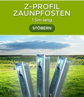 Sehr Z-Profil-Zaunpfosten - 1,5 - 2,5 m Länge | unkrautschutzvlies.de  WV23